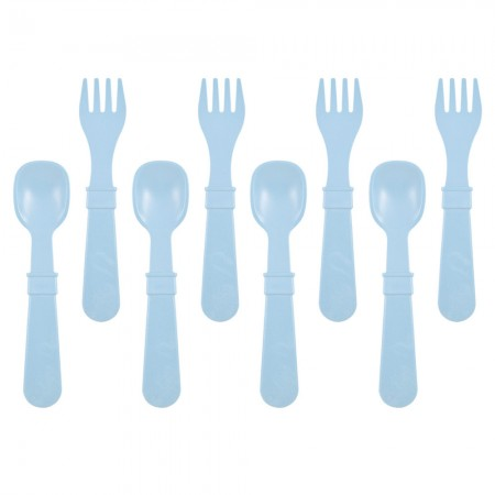Re-Play Recycled Utensils (8pk) - Ice Blue
