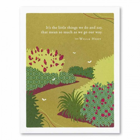 Positively Green Appreciation Card - It's the little things we do and say...