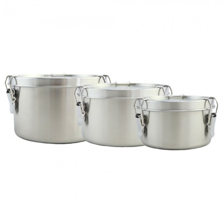 Good to Go Round Leakproof Stainless Steel Container - Set of 3