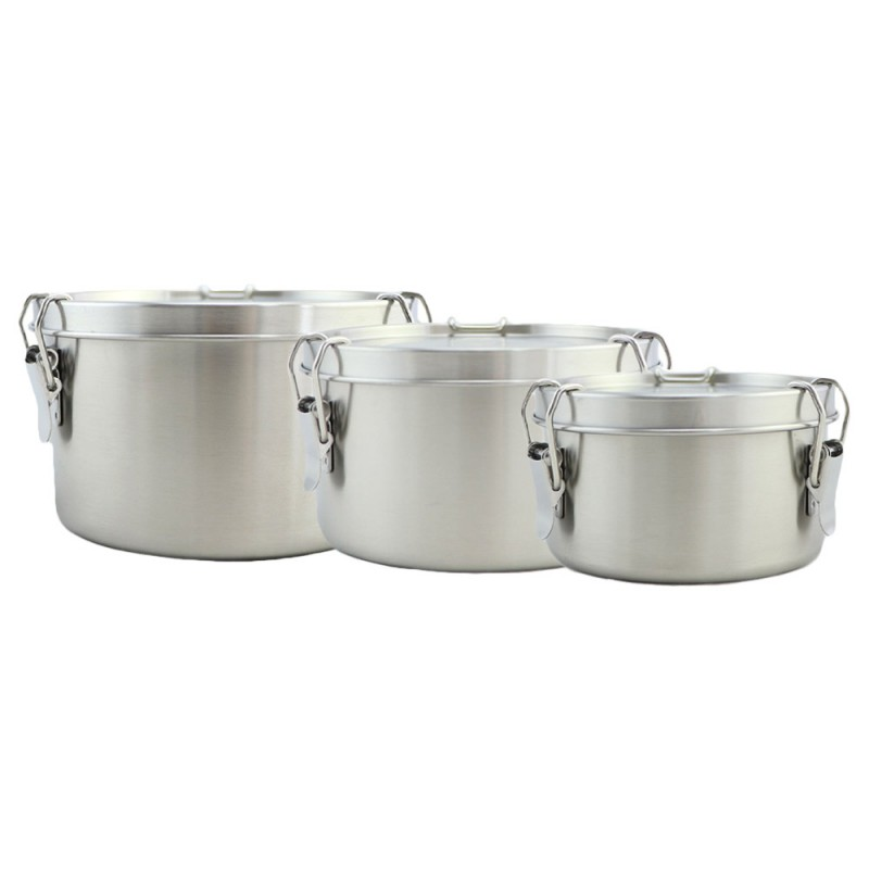 Good to Go Round Leakproof Stainless Steel Container Set of 4