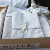 Hemp-organic cotton cot sheet set