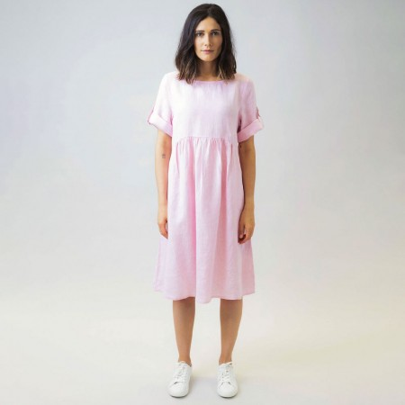 Naturals by O & J Rolled Sleeve Dress - Musk