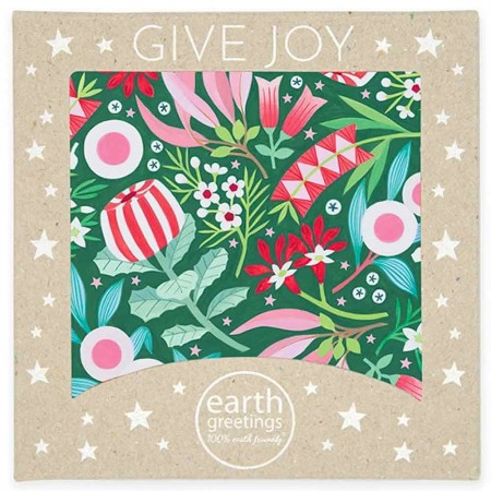 Earth Greetings Square Boxed Christmas Cards 8pk - Merry Natives