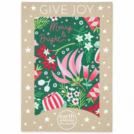 Earth Greetings Large Boxed Christmas Cards 8pk - Merry Natives