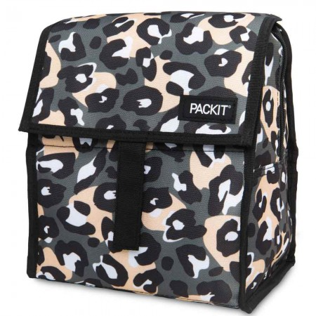 Packit Freezable Lunch Bag - Wild Leopard Grey