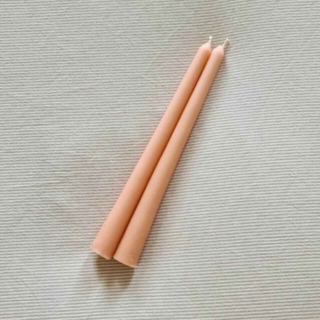 Someday Taper Candlesticks - 2 Pack Peach