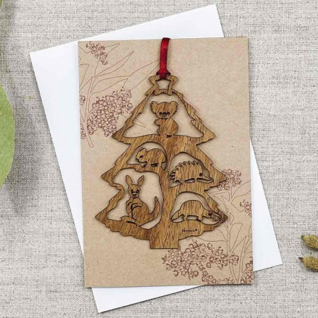 Buttonworks Christmas Card Tree Decoration