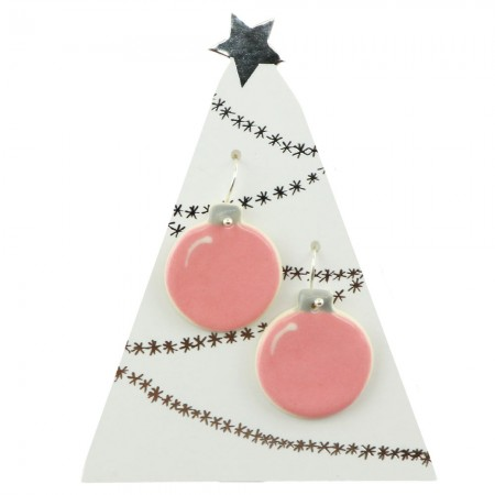 Paper Boat Press Bauble Hanging Earrings - Pink