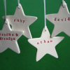 Personalised Christmas star by Kylie Johnson