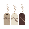 Large label pack (6) - kraft brown