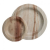 Palm leaf plates - 25 mini round