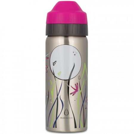Ecococoon 500ml Dragonfly Midnight Stainless Steel Water Bottle