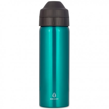 Ecococoon 600ml Teal Green stainless steel bottle
