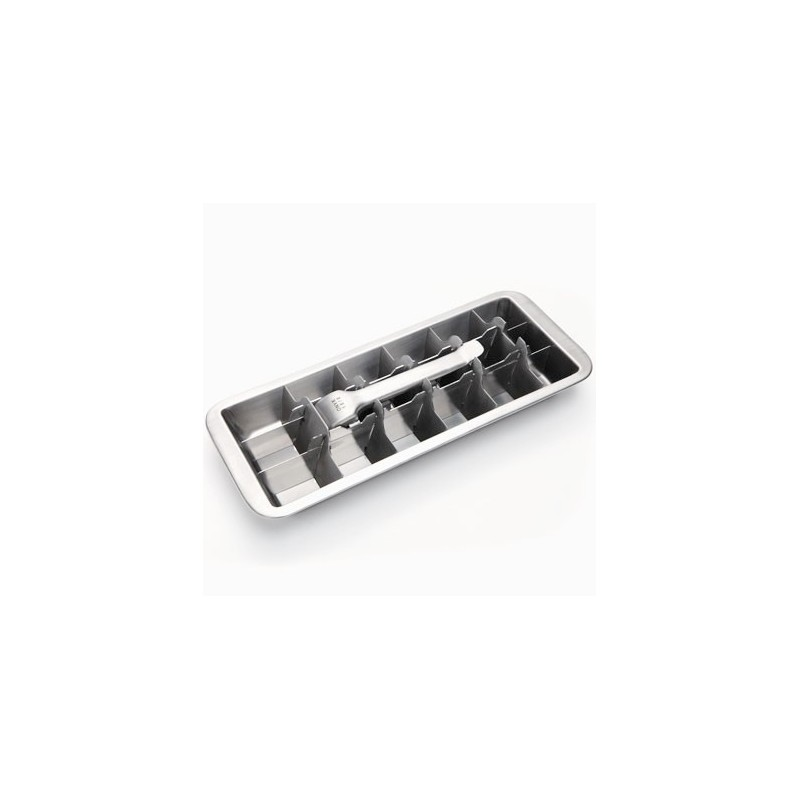 Stainless steel ice cube tray by Onyx