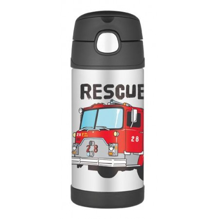 Thermos FUNtainer Insulated Stainless Steel Bottle 355ml - Fire Truck