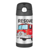 Thermos FUNtainer stainless steel water bottle with straw - fire truck
