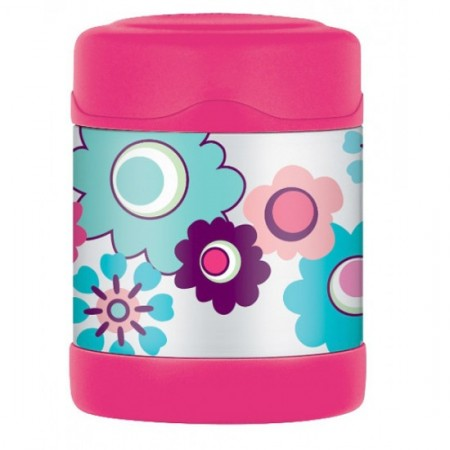 Thermos FUNtainer stainless steel insulated food jar 290ml - flower