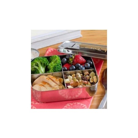 LunchBots quad (stainless steel - 4 sections) stainless steel lunch box