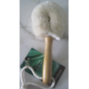 Dry face brush with soft jute bristle