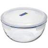 Glasslock storage bowl 2L round blue