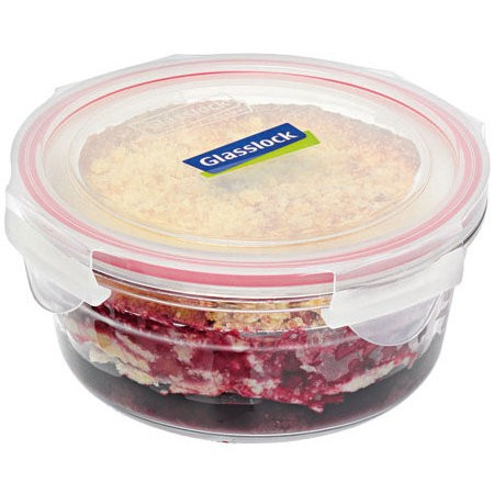 Glasslock oven safe container container 1.5L round red