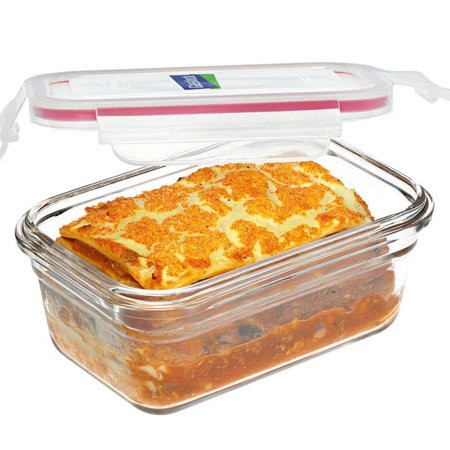 Glasslock oven safe container container 1730ml rectangle red