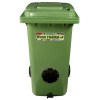 Worm habitat 240L wheelie bin kit with 1000 worms