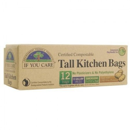 If You Care compostable bags - tall 49L (12 bags)