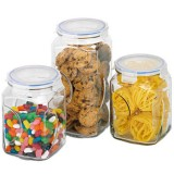 Glasslock canister set 3 piece