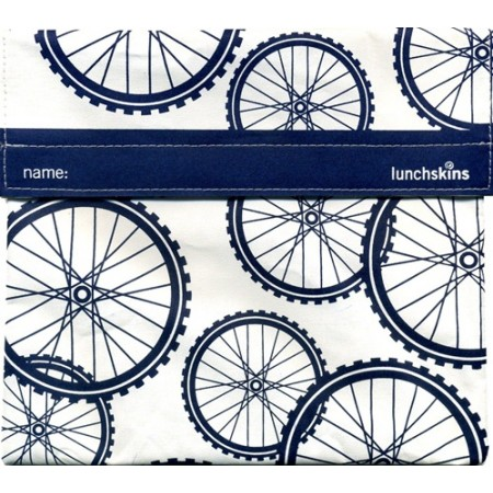 Lunchskins Large Sandwich Bags - Big Bag (Blue Bikes)