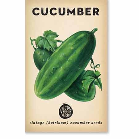 Heirloom seeds - cucumber 'green gem'
