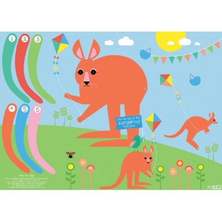 Earth Greetings wrapping paper - kangaroo game