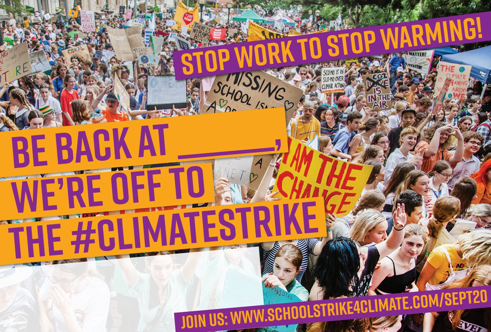 Climate Strike Stop Work Protest