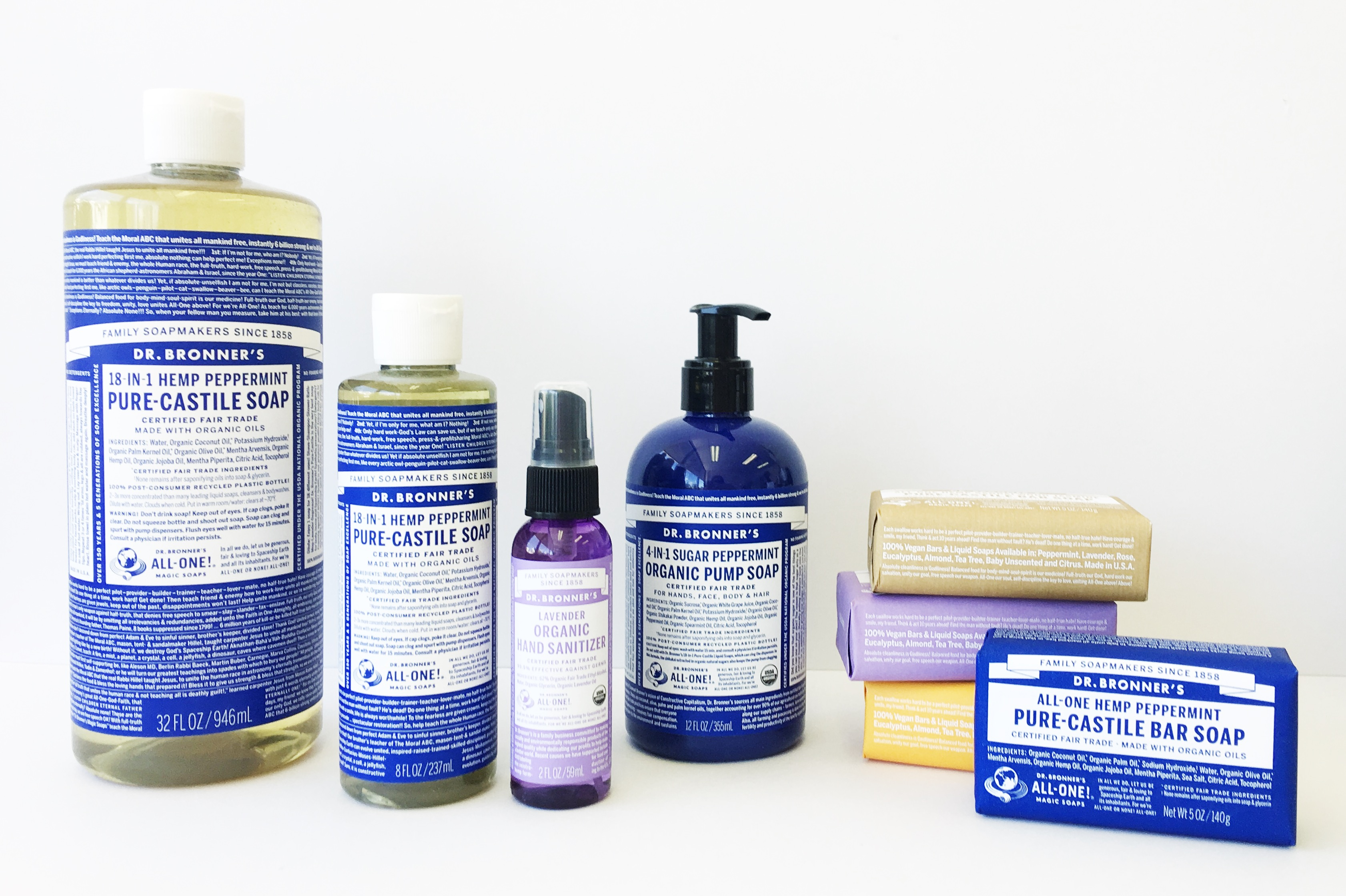 Dr. Bronner's pure castile soap available online at Biome