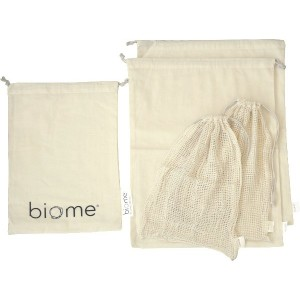 Going Zero Waste: 7 Simple Things You Can Do Right Now - Reusable Organic Cotton Produce Bags - Biome