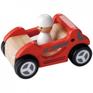 EverEarth educational wooden toys - red sports car