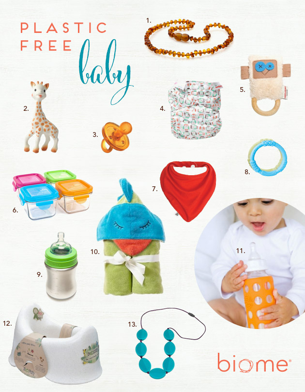 Plastic free baby products at Biome