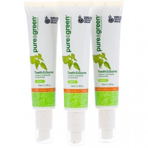 Natural Toothpaste, Palm Oil Free Fluoride Free - Pure Green Organics Concentrated Natural Toothpaste