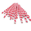 Red candy stripe paper drinking straws