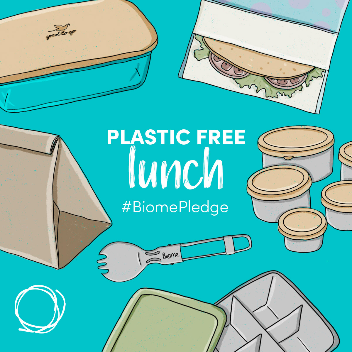 Plastic Free July - Plastic Free Lunch - Biome Eco Stores