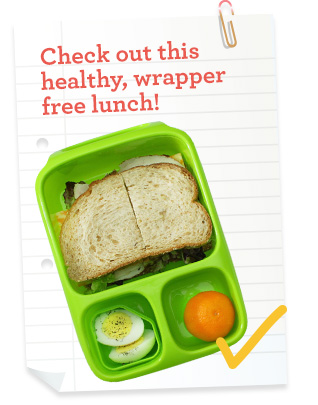 Check out this healthy, wrapper free lunchbox
