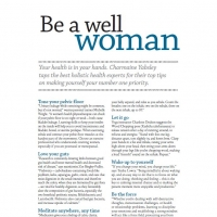 Be a well woman