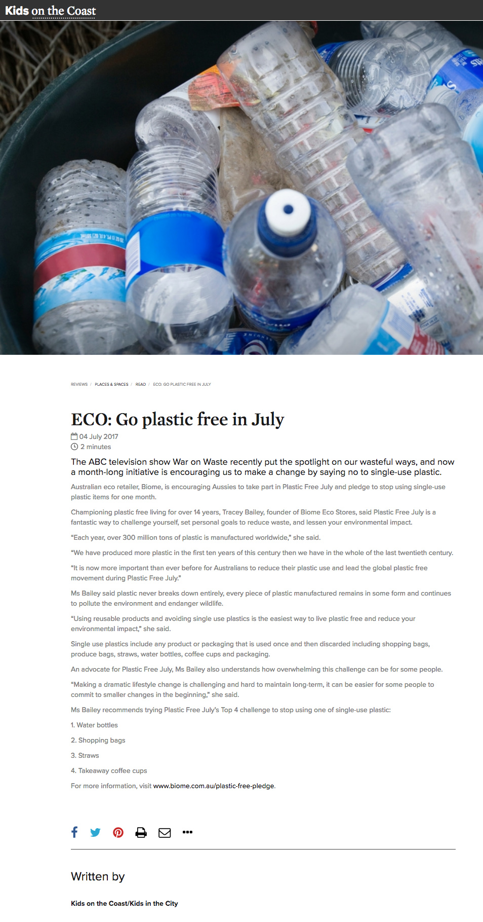 ECO: Go plastic free in July
