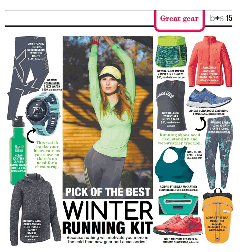Winter running kit