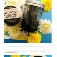 Spring scented charcoal body scrub