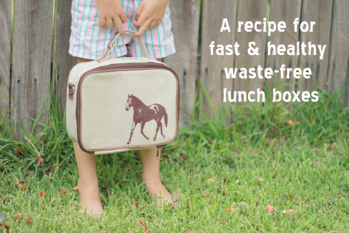 A recipe for fast and healthy waste-free lunch boxes