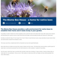 The Biome Bee House - a home for native bees