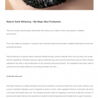 Natural teeth whitening - My Magic Mud Toothpaste