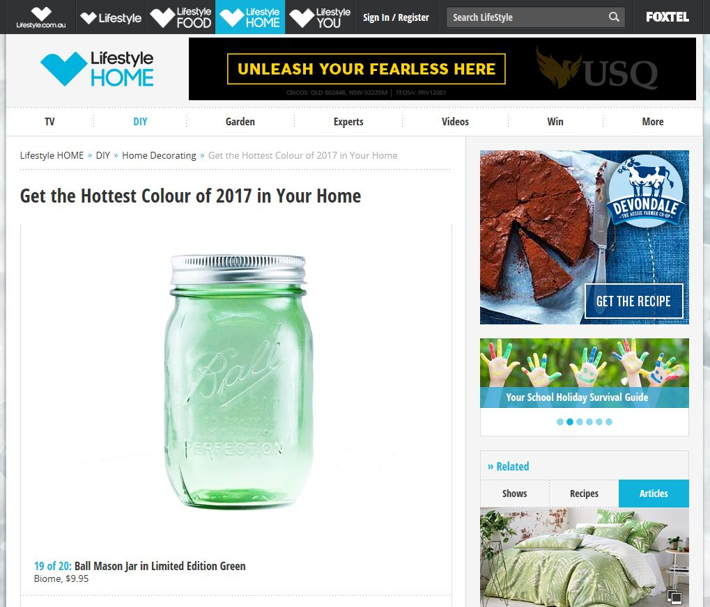 Get the hottest colour of 2017 in your home