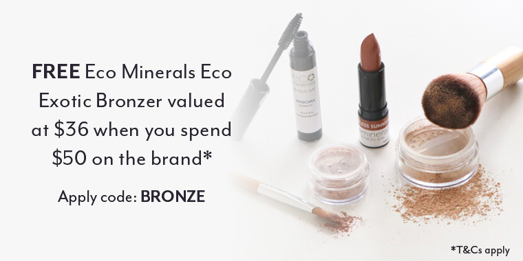 Free Eco Minerals Exotic Bronzer with $50 spend*